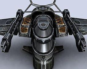 low-poly 3DRT - Sci-Fi Gunship 5