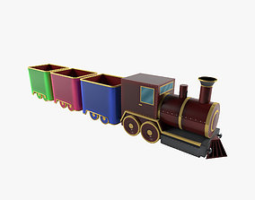 3D model Toy Train and vagon