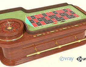 Casino Roulette Game Table 3D model