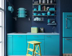 3D model Ikea kitchen