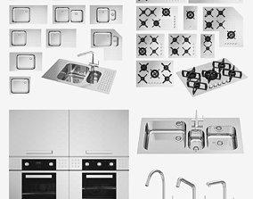 3D asset Barazza appliances cooktop