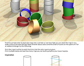 3D print model Stack-A-Ring Toy