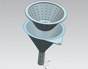 Kitchen funnel with strainer 3D printable model