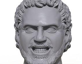 Hercules Hernandez 3D printable portrait sculpture