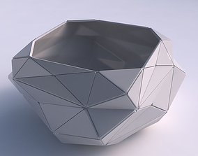 3D print model Bowl helix with triangle plates