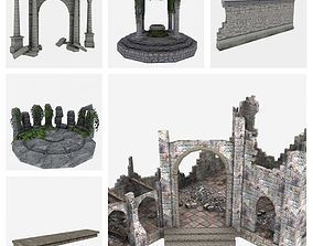 3D asset Ancient Ruins Pack
