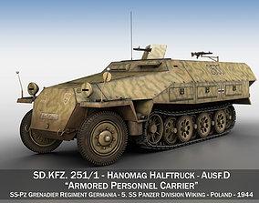 3D SDKFZ 251 Ausf D - Half-track - 2533