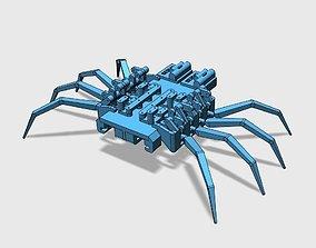 3D printable model 8 legged spider robot