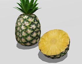 3D model VR / AR ready Pineapple