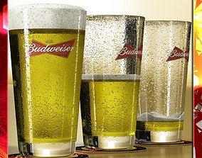 Budweiser Beer Glass 3D