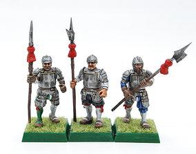 3D printable model Landsknecht halberdiers and spearmen
