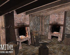 3D model Smithy - building and props