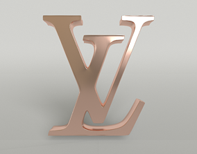 Louis Vuitton Logo 004 3D model realtime