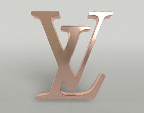 Louis Vuitton Logo 004 3D asset