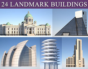 3D model Landmark and municipal buildings pack