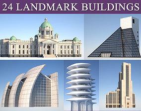 3D model Landmark and municipal buildings pack