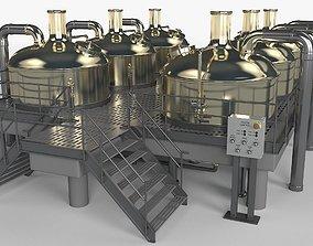 Brewery Scene 3D model
