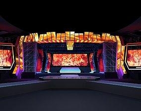 Concert stage design 3D