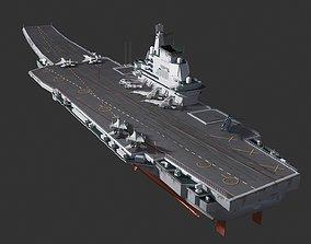 3D asset Chinese Navy PLAN 001A aircraft carrier Shandong