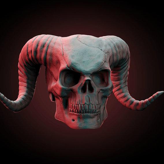 Demon Skull 3D Printing