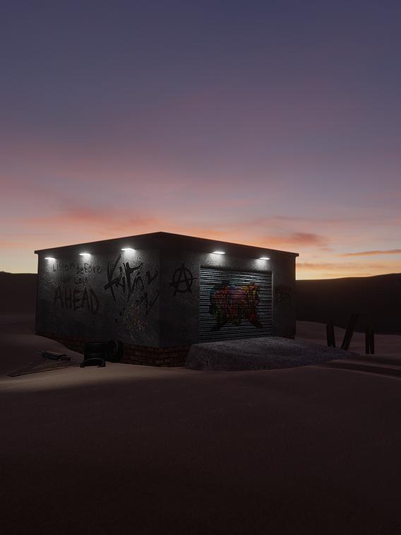Garage in desert