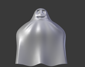 Ghost with a face 3D model