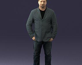 Man with short hair jeans 0497 3D Print Ready