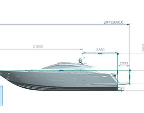 Yacht 3D model gameing