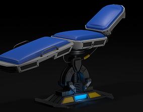 Hospital bed 3D model lab