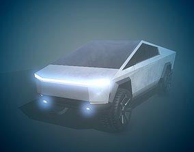 3D asset realtime Tesla CyberTruck