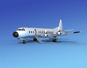 Lockheed L-188 Electra HP Unmarked 3 3D model