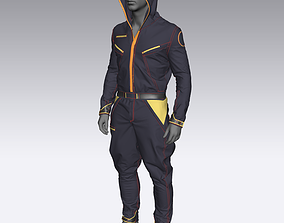 Sci Fi jacket in Marvelous Designer 3D model