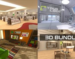 low-poly 3D VR Bundle 01