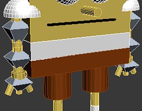 Sponge Bob 3D model rigged low-poly
