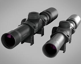 3D asset Handgun Scope