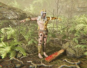 3D asset Mayan Jaguar Warrior