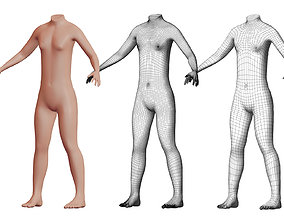 Character 28 High and Low-poly - Body male 3D