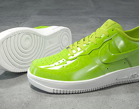 Nike Air Force 1 low cyber green 3D asset