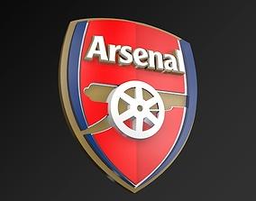 Arsenal FC Football Club 3D Logo game-ready