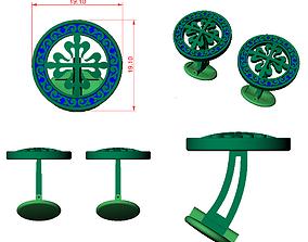 CUFFLINK-6 - Enamel Cufflink 3D printable model