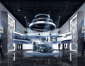 architecture Porsche Motor Show 3D model