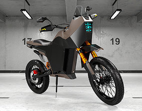 3D Modern Electric Motorcycle High Poly Model