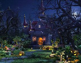 3D model exterior Halloween set