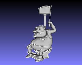 flush the toilet 3D print model