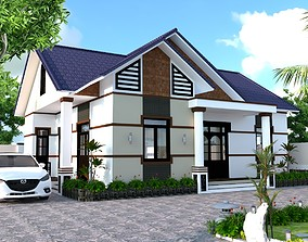 glass animated House design 3d model