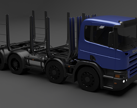 Scania P340 Timber 3D model