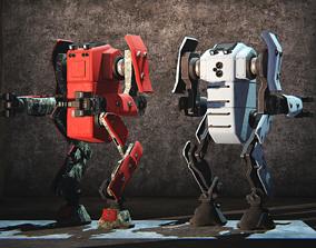 Peacekeeper Robot 3D asset