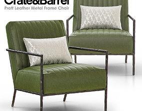 3D Pratt Leather Metal Frame Chair