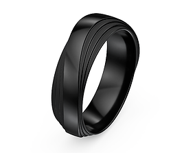 Wedding Band Ring Men 3D Models 3D Print Model goldring