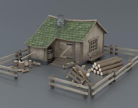 Lumberjack House 3D model low-poly